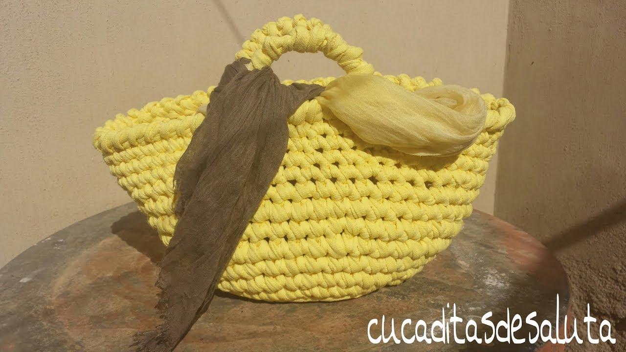 CAPAZO A TRAPILLO PASO PASO !!TUTORIAL DIY ¡¡ / Basket of ...