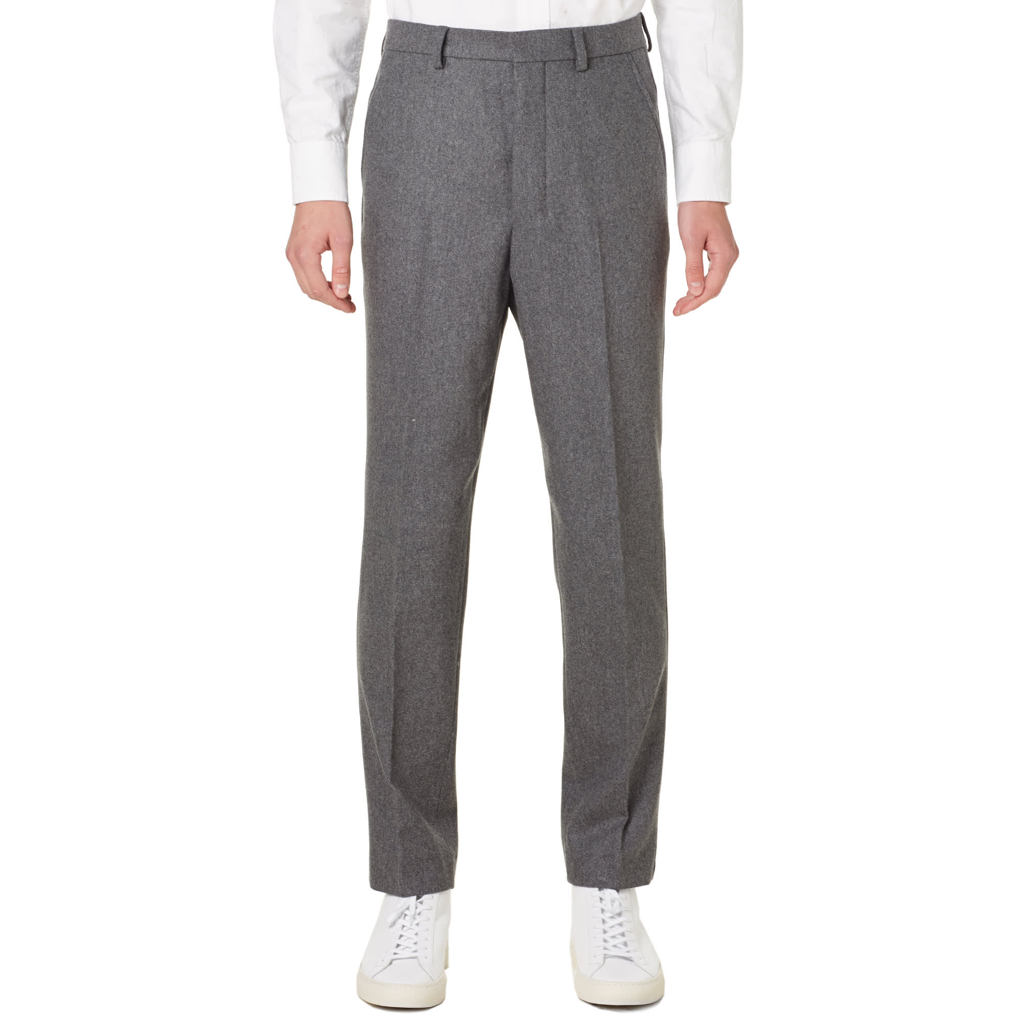 AMI Carrot Fit Trouser Grey