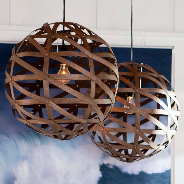Austen Wood Veneer Pendant - modern - pendant lighting - by PBteen