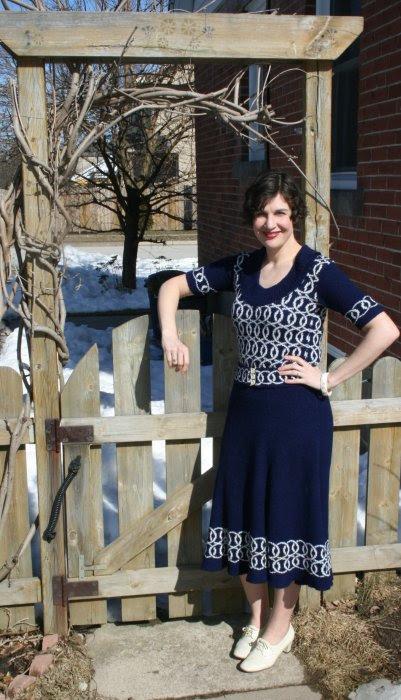 Vintage Show Outfit 1930s knit dress