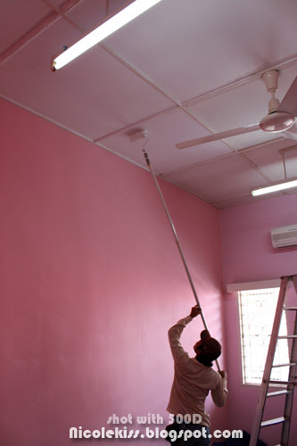 painting the ceiling white