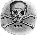 Emblema de la sociedad Skull & Bones.