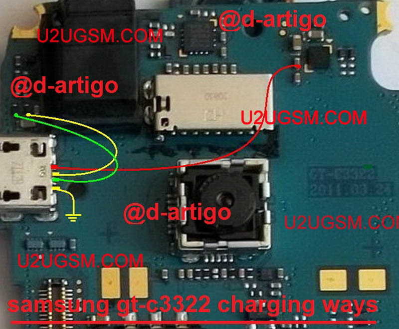 samsung c3322i charging ways