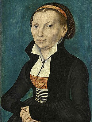 Katharina von Bora, Luther's wife, by Lucas Cr...