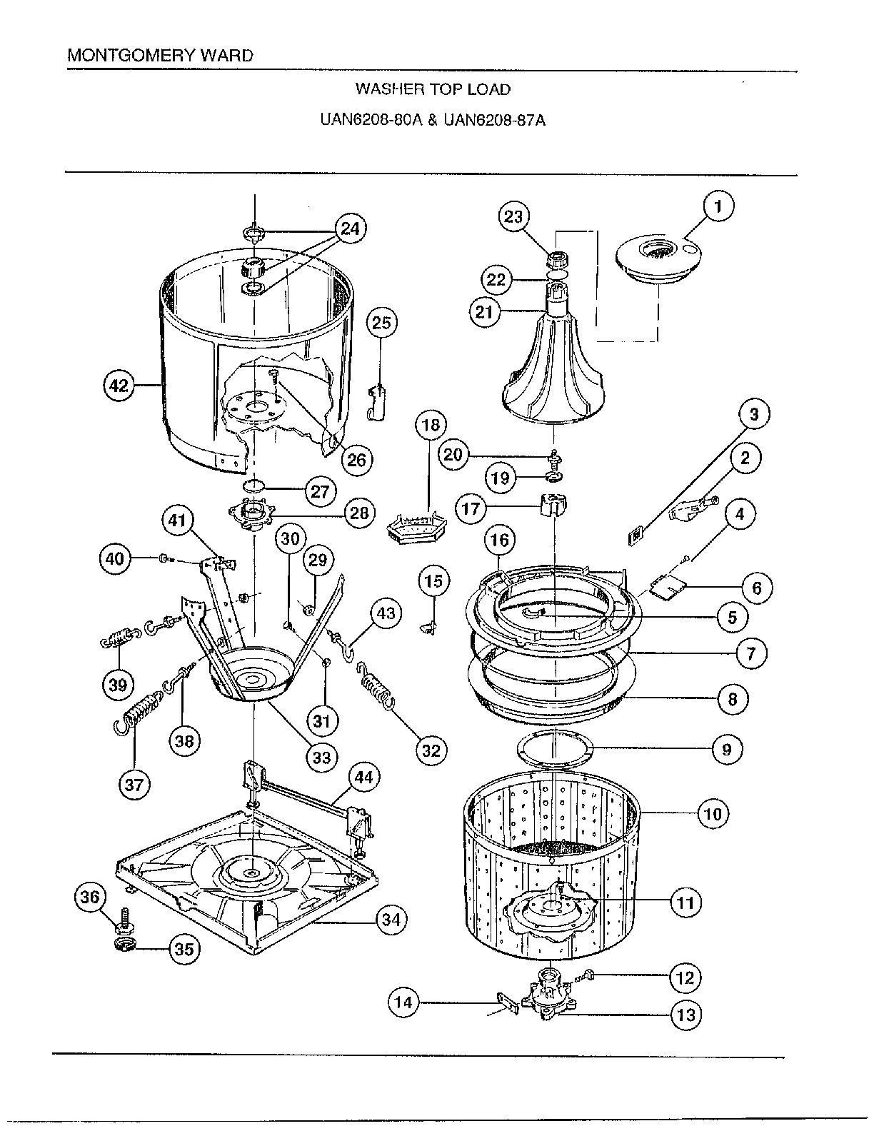 Wiring Diagram  32 Frigidaire Washing Machine Parts Diagram