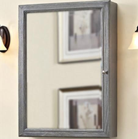 Rustic Chic 22 Medicine Cabinet Silvered Oak Fairmont Designs