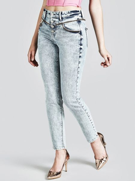 Jean Skinny Boutons