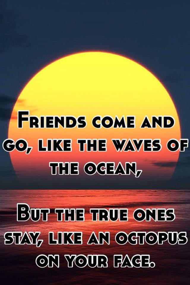 Friends Come And Go Like The Waves Of The Ocean But The True Ones
