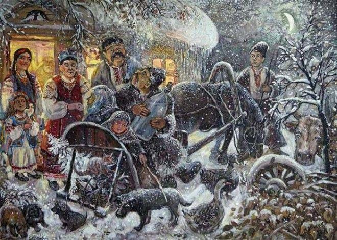 Трансформация языческого праздника в рождественский христианский обряд