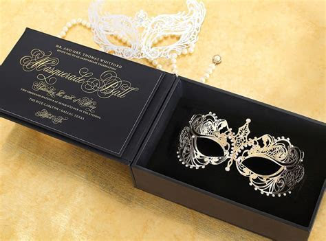 Masquerade 3D Invitation by Southern Fried Paper with