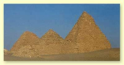 Some of the surviving pyramids at Nuri