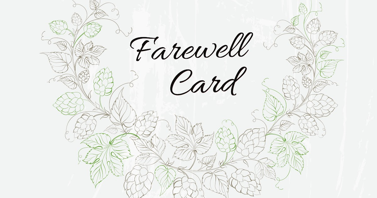 farewell card template word  professional sample template