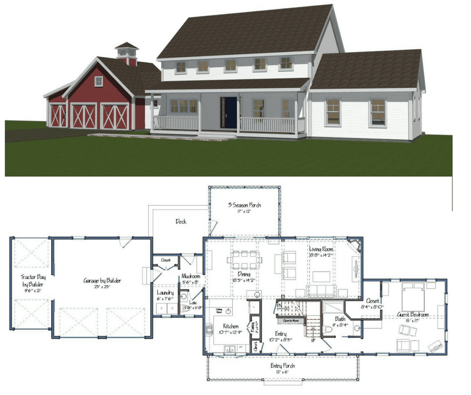 5th wheel toy hauler floor plans 2019: New Yankee Barn Homes ...