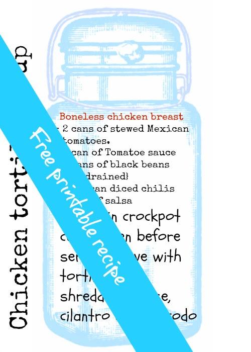 free printable recipe