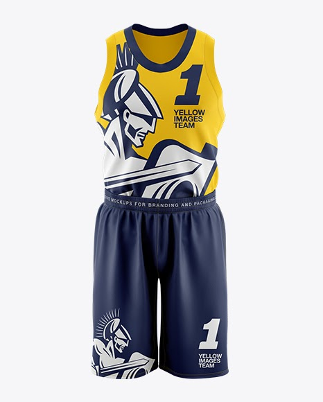 Download Free Basketball Kit Mockup - Front View (PSD) - Download ...
