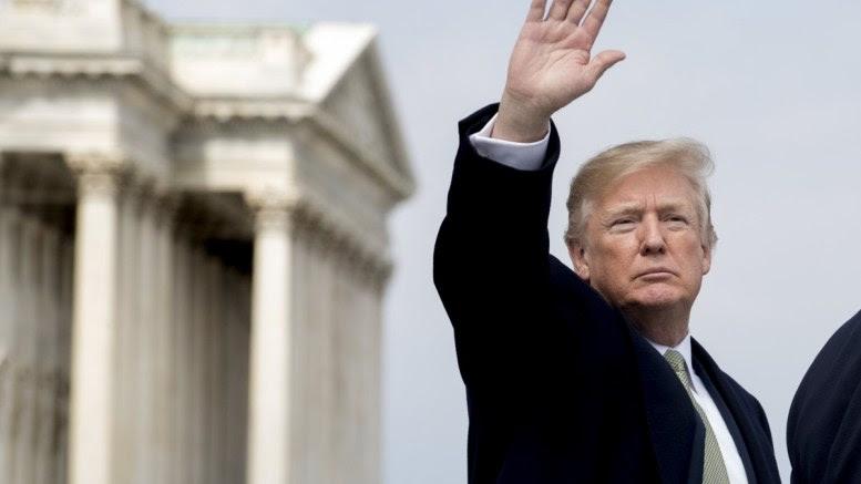 File Photo: US President Donald J. Trump waves to members of the news media. EPA, MICHAEL REYNOLDS