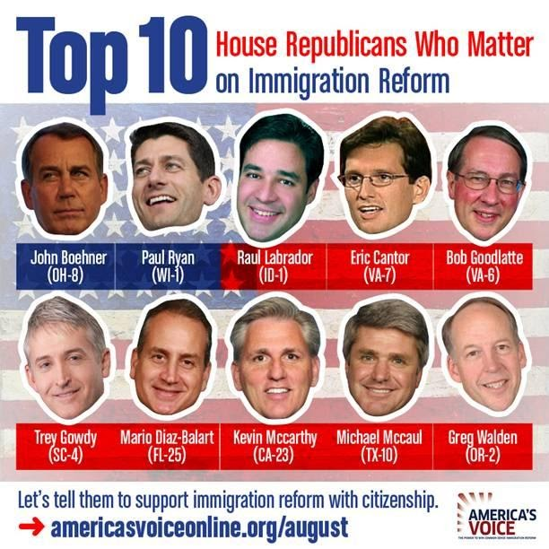 Immigration Reform News: The Top 10 House GOP Members That Matter On Immigration