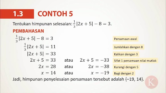 Contoh Soal Pertidaksamaan Nilai Mutlak Dan Pembahasannya Kelas 10 Pdf