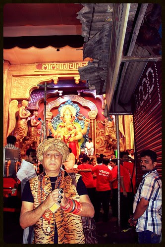 Shooting Lalbagh Chya Raja At His Pandal On Visarjan Day by firoze shakir photographerno1