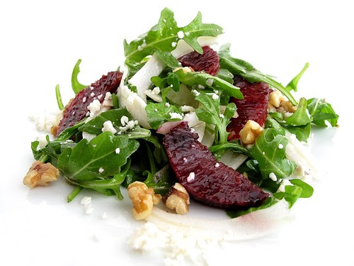 arugula,fennel, blood orange salad