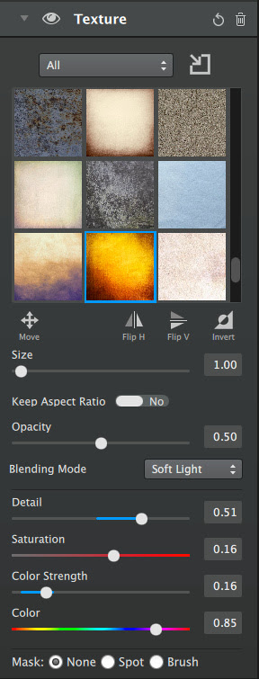 Texture Adjustment Module