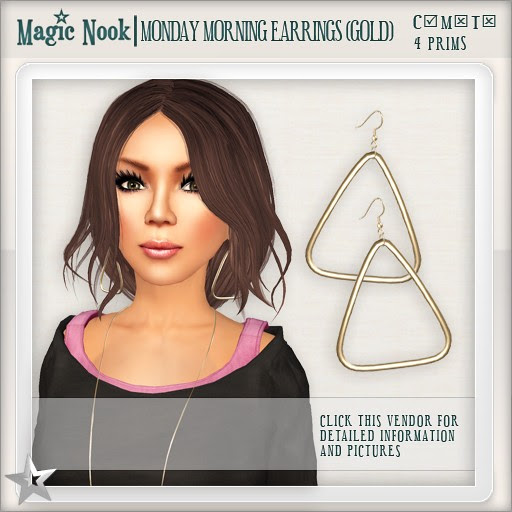 [MAGIC NOOK] Monday Morning Earrings (Gold)