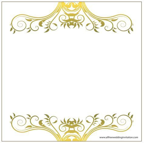 Decorative Borders For Wedding Invitations
