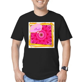 Geaux Wear Pink! Men's Fitted T-Shirt (dark)