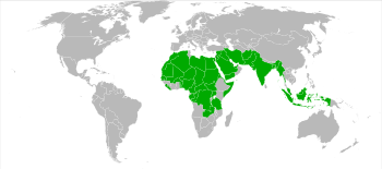 World map highlighting those countries where p...