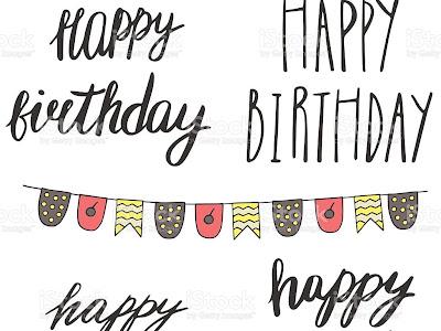すべてのイラスト画像 Happy Birthday 可愛いロゴ 手書き