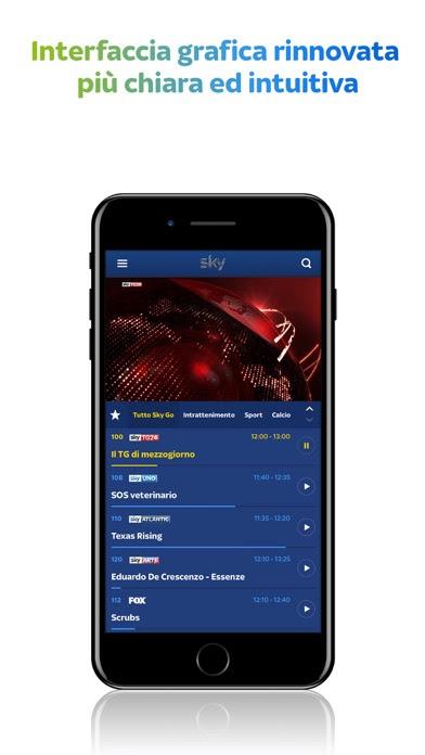 Sky Go per iPhone, l'app si aggiorna alla vers 2.1.1