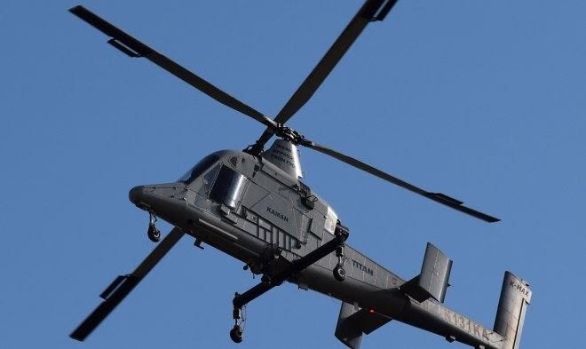 Транспортный военный вертолет K-Max Titan стал первым в мире коммерческим беспилотником
