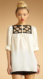 Rachel Rachel Roy Lattice Top