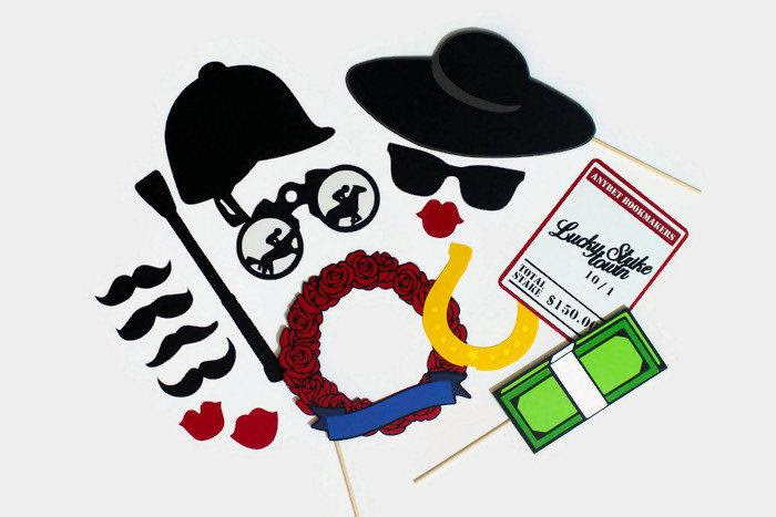 Kentucky Derby Photo Booth Props Set Of 16 Photobooth Party Props