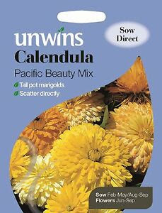 Unwins Pictorial Packet - Flower - Calendula Pacific ...