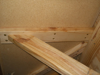 Kitchen Counter Tied Down to Bracing