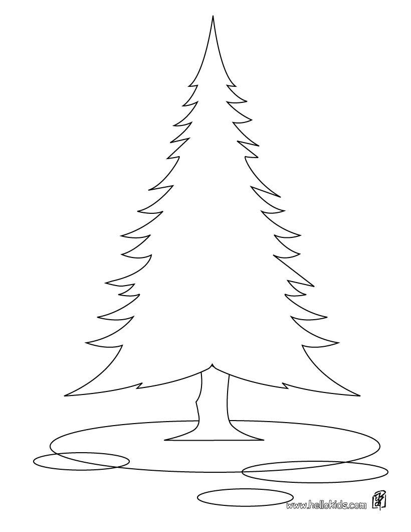 Tannenbaum zum Ausmalen