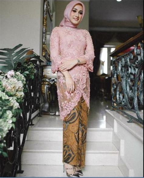 model kebaya brokat modern muslim terupdate