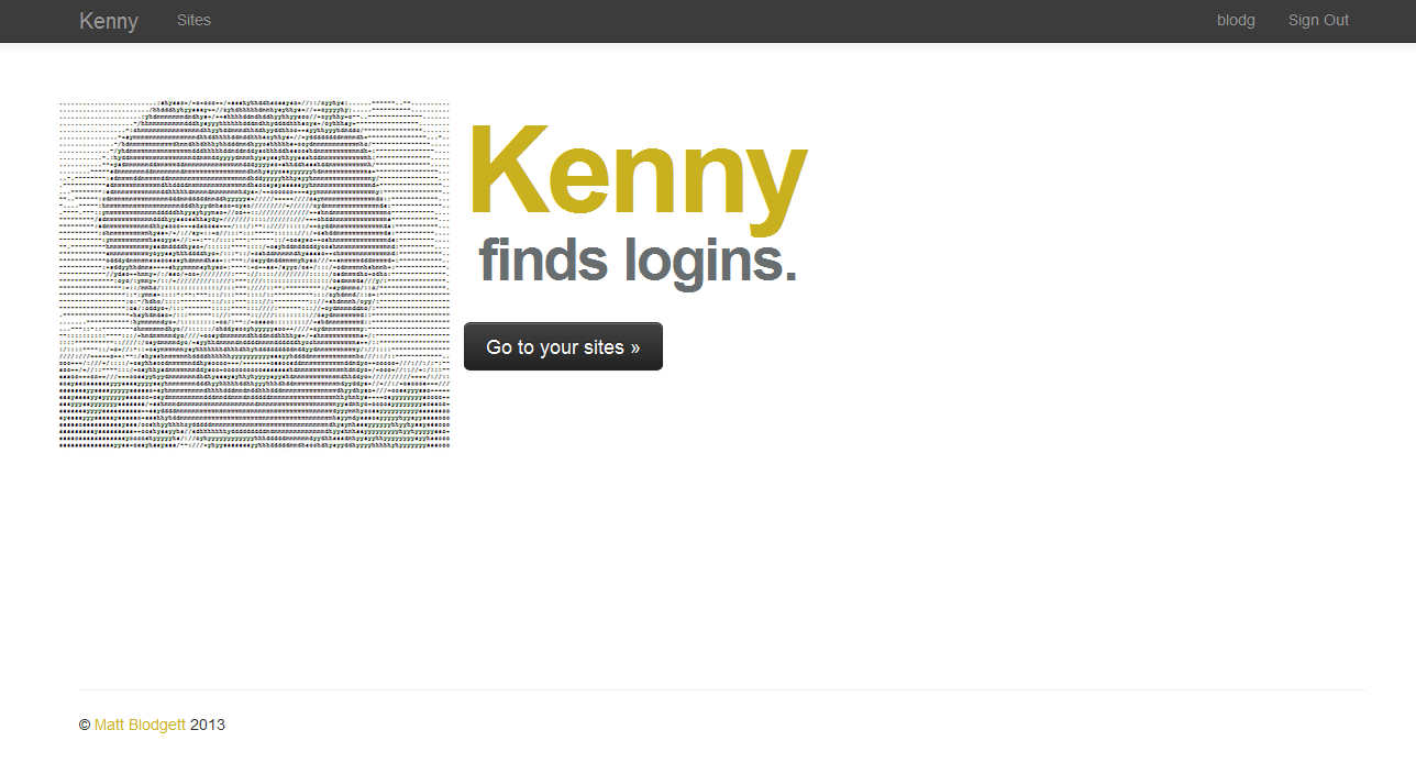 Kenny homepage
