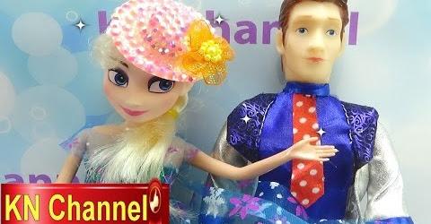 Đồ chơi trẻ em Bé Na & Búp bê Elsa làm phép thuật Elsa Doll & magic snow Childrens toys