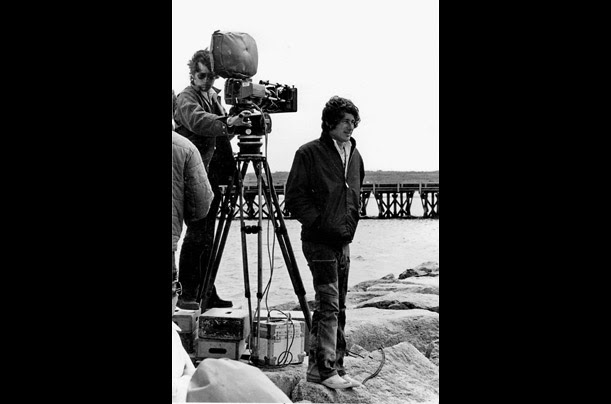 Spielberg directs from the jetty at State Beach.