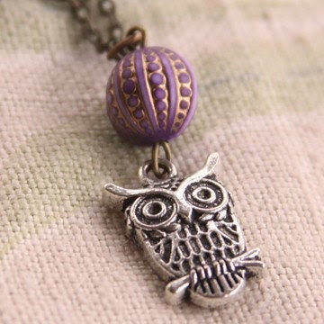 Hoo Are You owl necklace