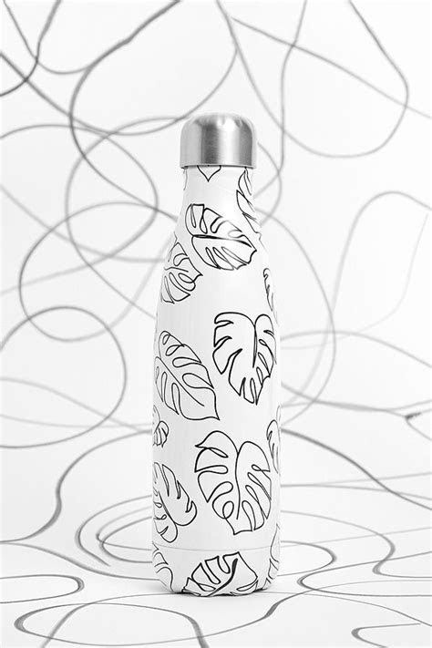 Chilly's Leaf Outline 500ml Stainless Steel Water Bottle