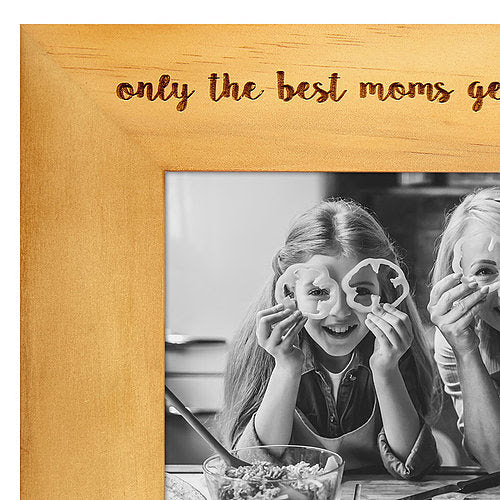 Engraved Wood Frame Only The Best Moms Get Promoted To Grandma