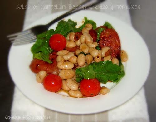 Salad of Cannellini Beans, Chorizo & Tomatoes 2