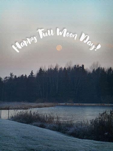 Happy Full Moon Day Lake Landscape. Free Full Moon Day