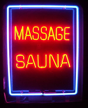 Neon Massage Sauna