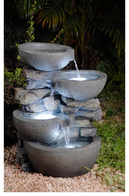 Modern Bowls with LED Lights Indoor/ Outdoor Water ...