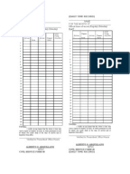 CSC Form48 (DTR)