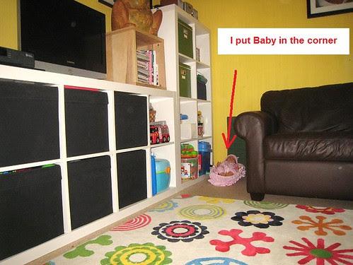baby in corner